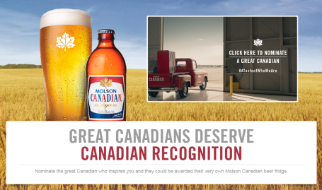 Molson Canadian boxes with image