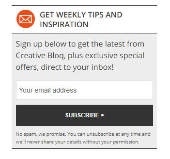 Creative Bloq Newsletter Form - enclosure